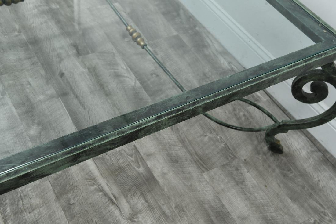 IRON AND GLASS COFFEE TABLE - 7
