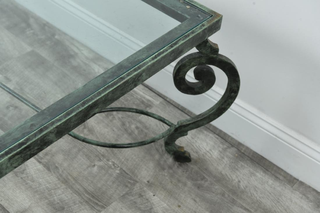 IRON AND GLASS COFFEE TABLE - 8