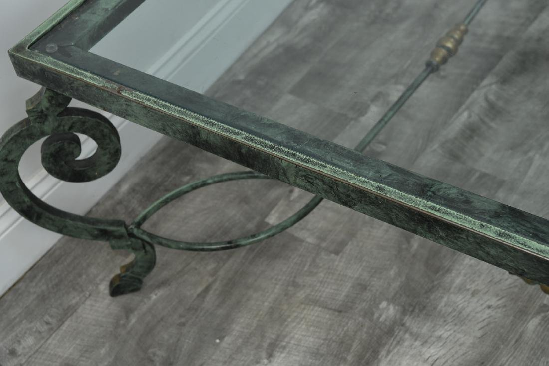 IRON AND GLASS COFFEE TABLE - 9
