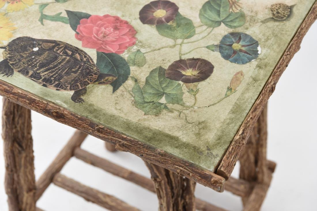 FLOWER DECORATED ADIRONDACK STYLE TABLE - 6