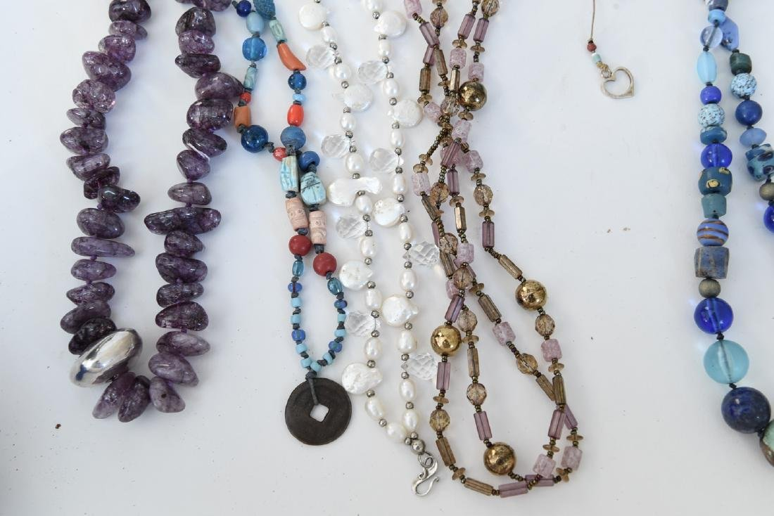GROUPING OF STONE NECKLACES - 2
