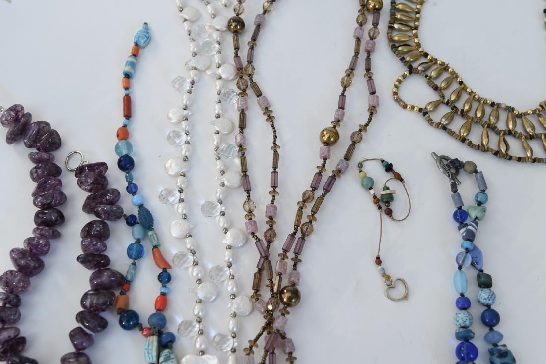 GROUPING OF STONE NECKLACES - 3