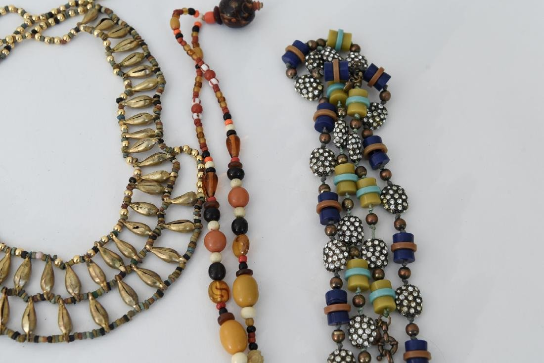 GROUPING OF STONE NECKLACES - 5