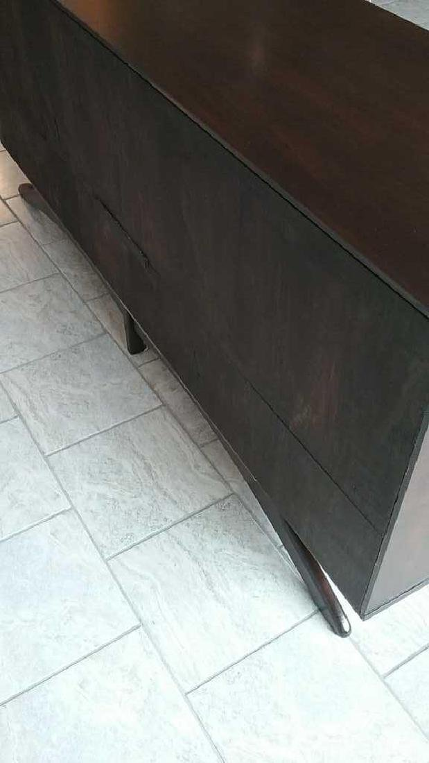 MID-CENTURY SCULPTURAL STAINED GLASS CREDENZA - 18