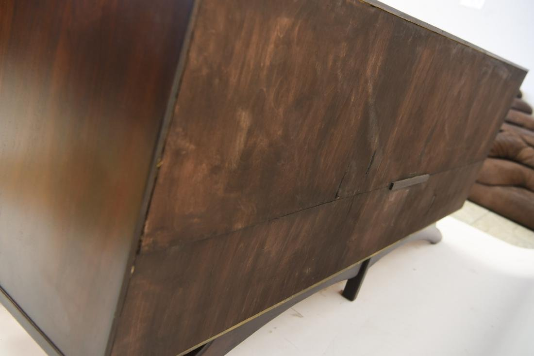 MID-CENTURY SCULPTURAL STAINED GLASS CREDENZA - 9