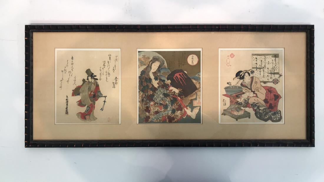 (3) FRAMED JAPANESE WOODBLOCK PRINTS