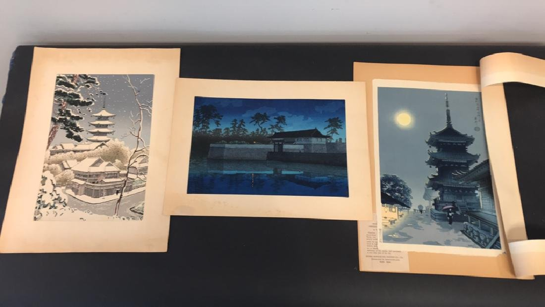 (3) 20TH CENTURY JAPANESE WOODBLOCK PRINTS
