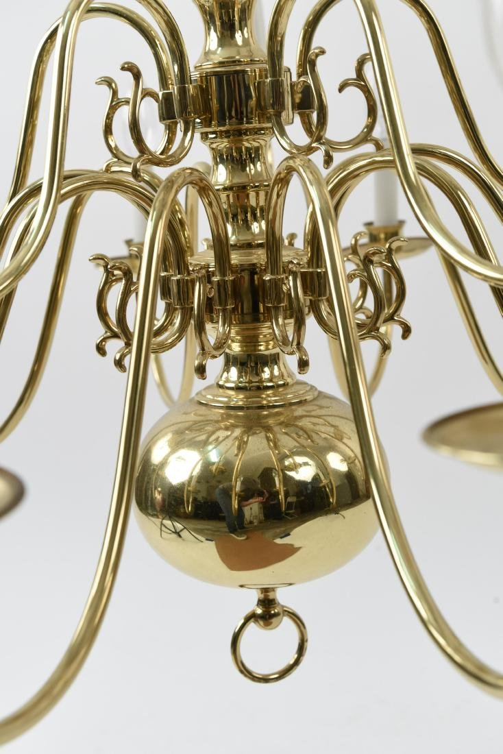BRASS CHANDELIER - 5