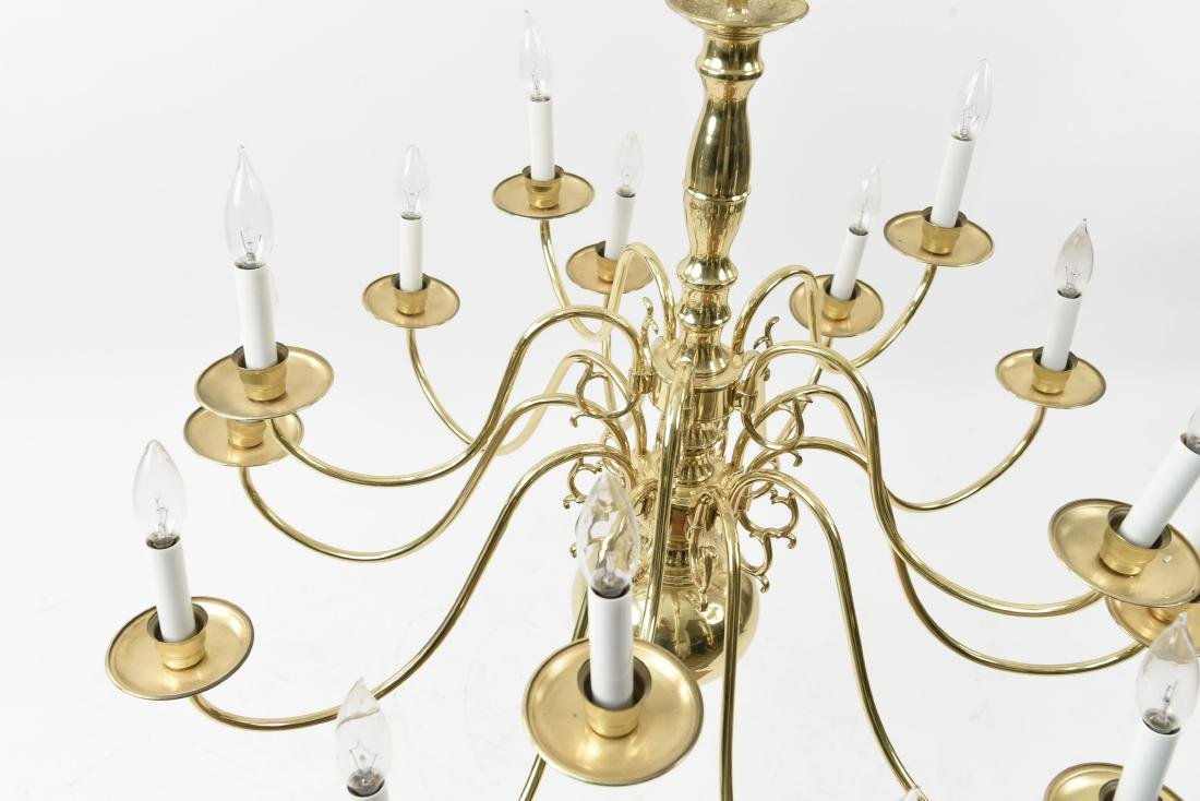 BRASS CHANDELIER - 8