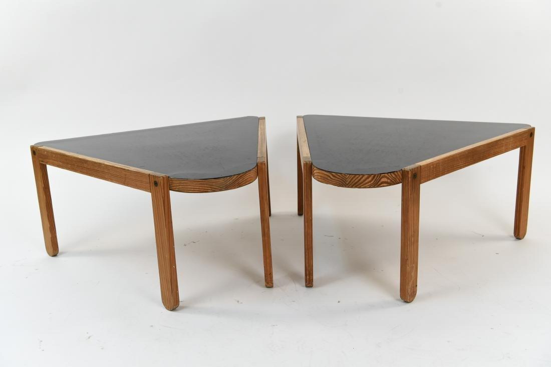 (2) BERNT PETERSEN TRIANGULAR COFFEE TABLES