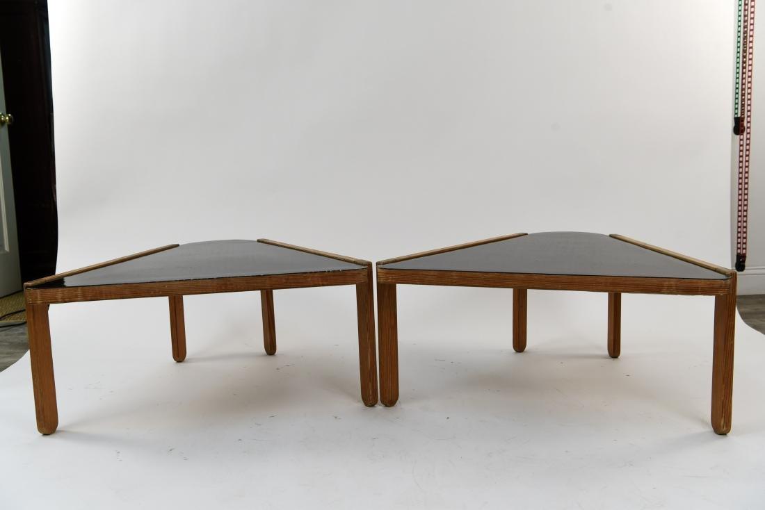 (2) BERNT PETERSEN TRIANGULAR COFFEE TABLES - 5