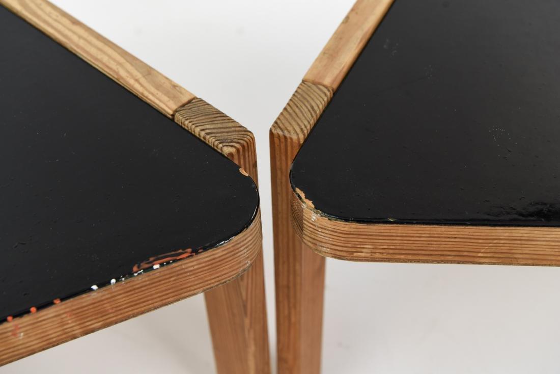 (2) BERNT PETERSEN TRIANGULAR COFFEE TABLES - 8