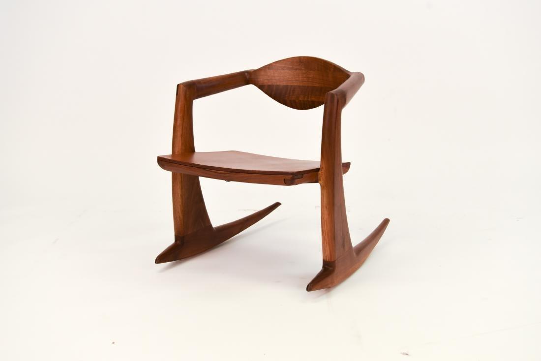 WENDELL CASTLE INSPIRED WALNUT ROCKING CHAIR