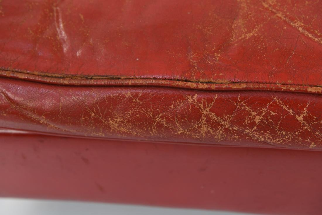 BORGE MOGENSEN STYLE RED LEATHER MID-CENTURY SOFA - 6