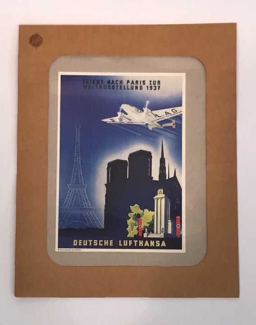 VINTAGE NAZI LUFTHANSA POSTER 1937
