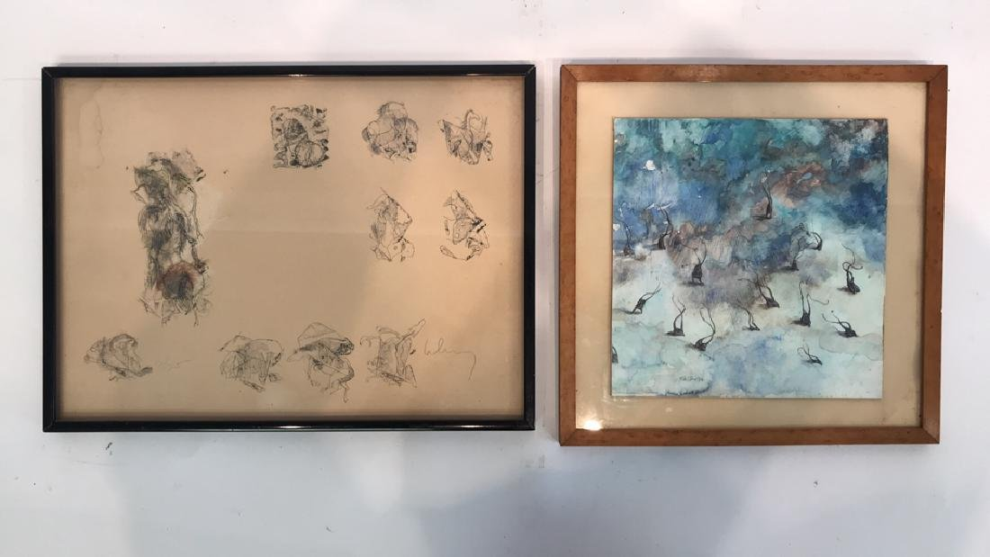 MODERN MIXED MEDIA & EMBELLISHED LITHOGRAPH