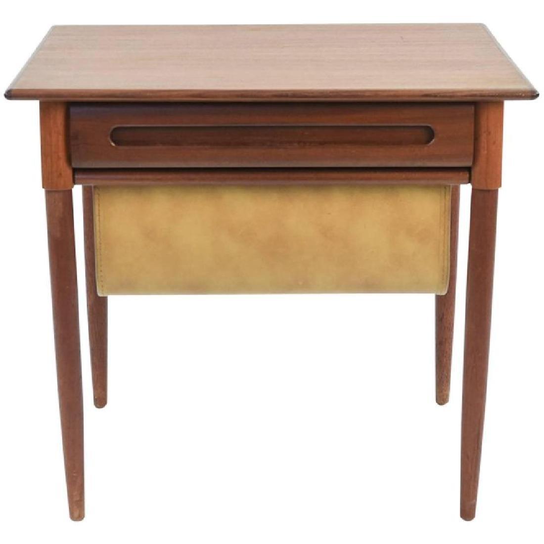 NORWEGIAN MID-CENTURY TEAK SEWING TABLE