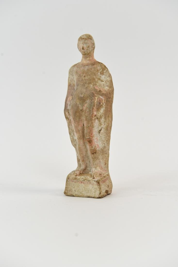 CLASSICAL GREEK 5TH C. BC TERRACOTTA NUDE MALE