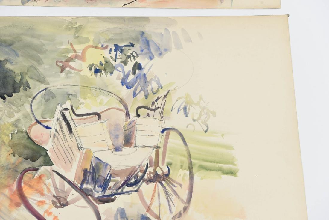 (4) RENE ZIMMERMAN (FRENCH 1904-1991) WATERCOLORS - 10