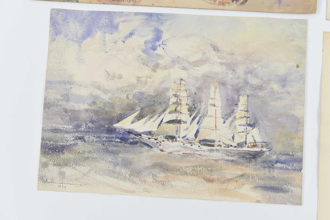 (4) RENE ZIMMERMAN (FRENCH 1904-1991) WATERCOLORS - 3