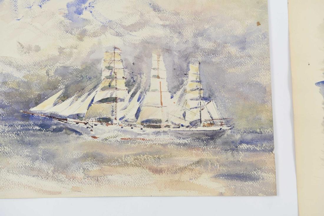 (4) RENE ZIMMERMAN (FRENCH 1904-1991) WATERCOLORS - 6