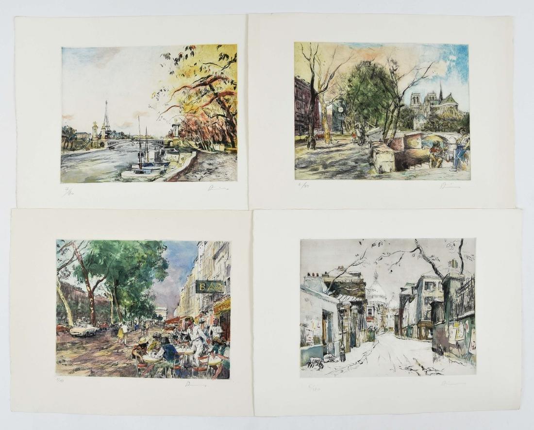 (4) RENE ZIMMERMAN (FRENCH 1904-1991) PRINTS