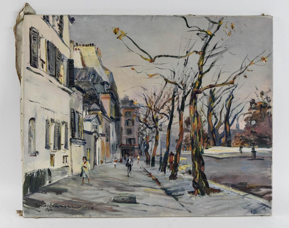 RENE ZIMMERMAN (FRENCH 1904-1991) O/C