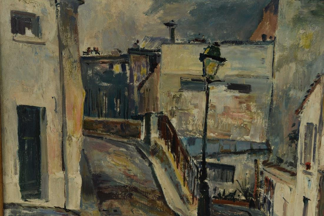 RENE ZIMMERMAN (FRENCH1904-1991) O/C STREET SCENCE - 10