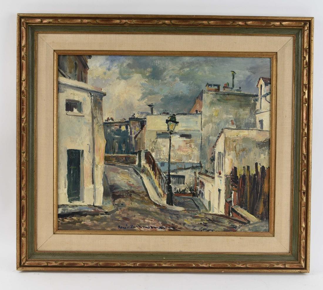 RENE ZIMMERMAN (FRENCH1904-1991) O/C STREET SCENCE
