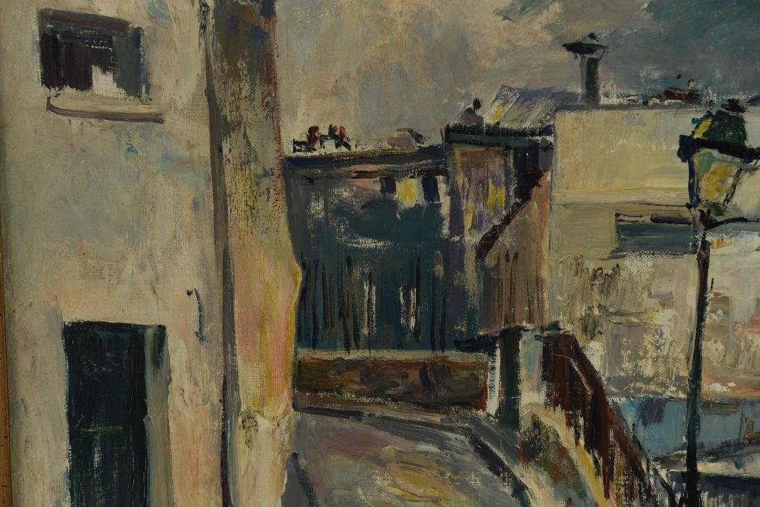 RENE ZIMMERMAN (FRENCH1904-1991) O/C STREET SCENCE - 4