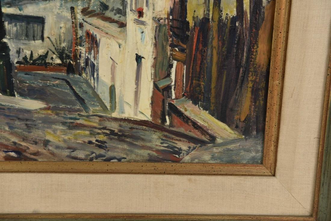 RENE ZIMMERMAN (FRENCH1904-1991) O/C STREET SCENCE - 7