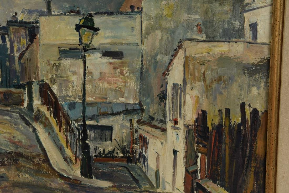 RENE ZIMMERMAN (FRENCH1904-1991) O/C STREET SCENCE - 8