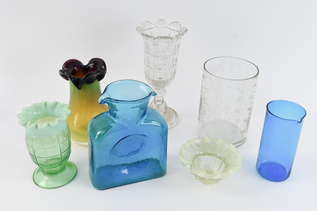MID-CENTURY ART GLASS GROUPING