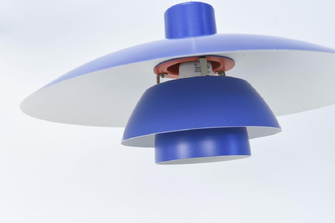 PAIR OF BLUE LOUIS POULSEN PH 4/3 LAMPS - 4