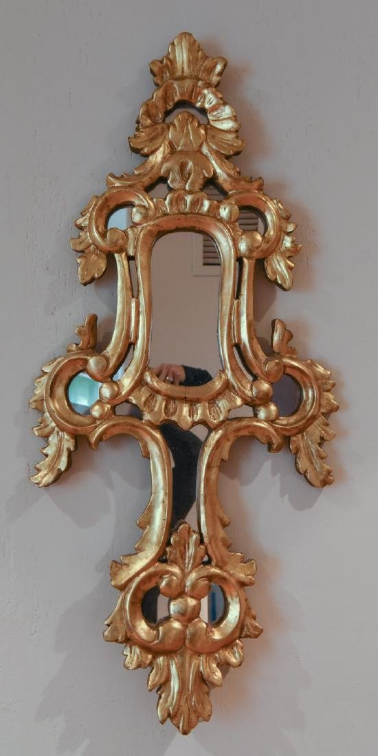 GILT AND CARVED WOODEN MIRROR