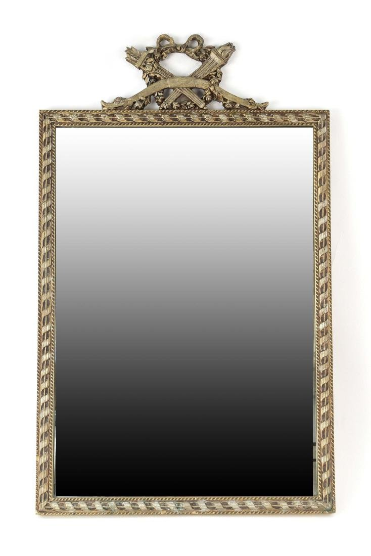 VINTAGE CARVED ANTIQUED MIRROR