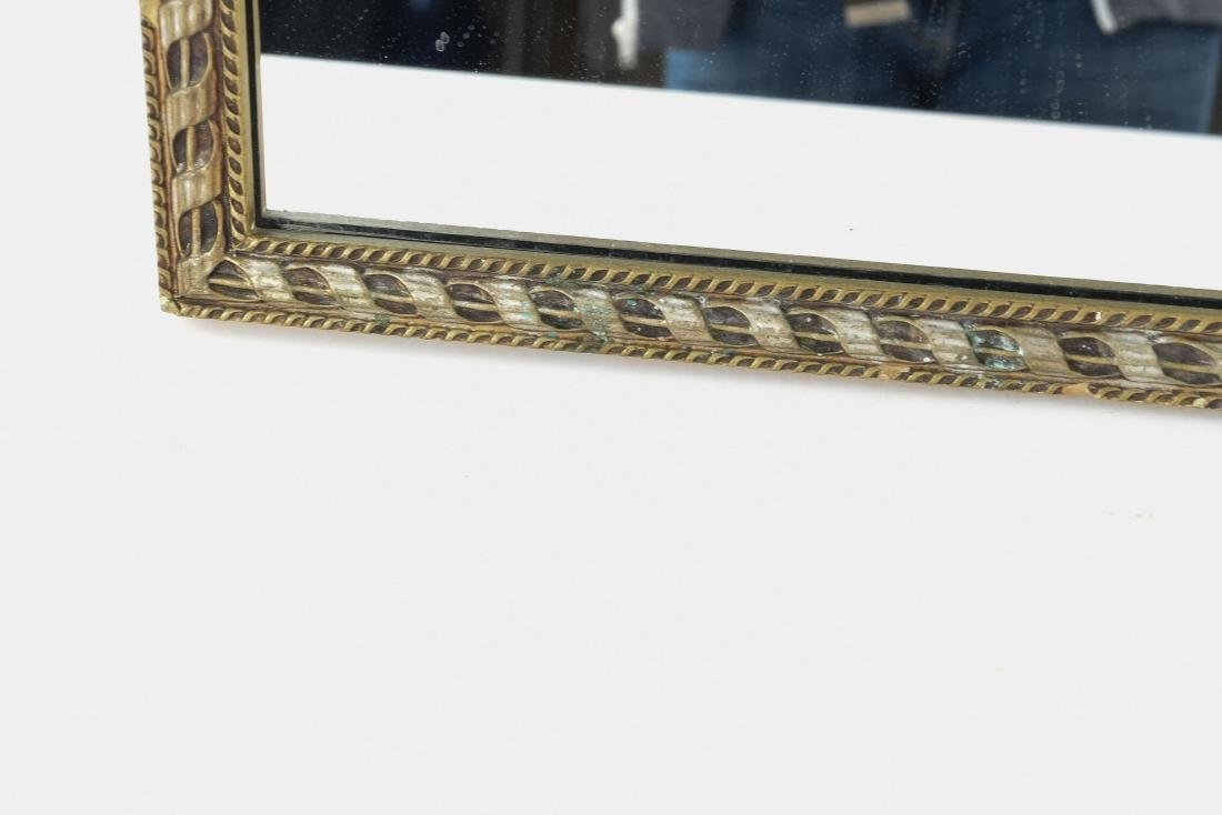 VINTAGE CARVED ANTIQUED MIRROR - 5