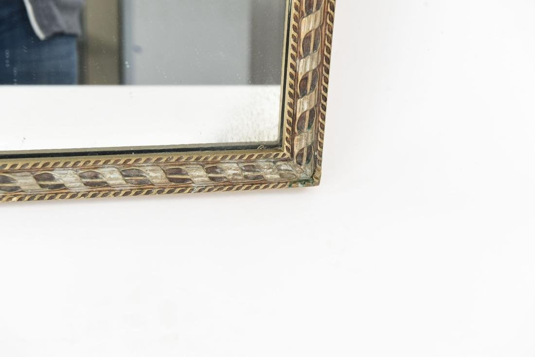 VINTAGE CARVED ANTIQUED MIRROR - 6