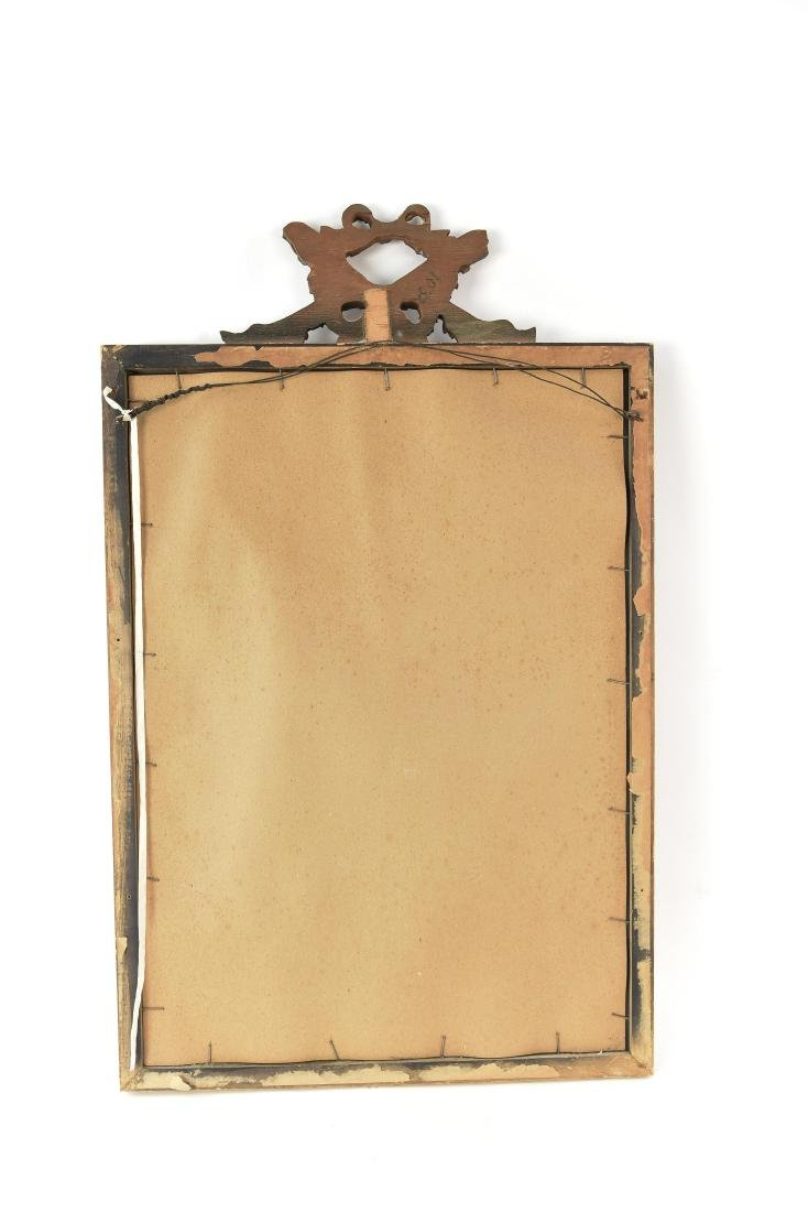 VINTAGE CARVED ANTIQUED MIRROR - 9