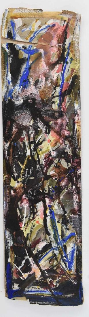 MIXED MEDIA ABSTRACT SIGNED PROBST 1957