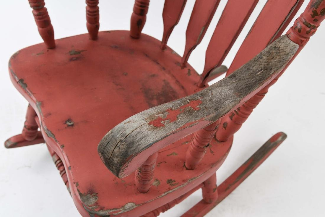 ROCKER WITH DISTRESSED PAINT FINISH - 5