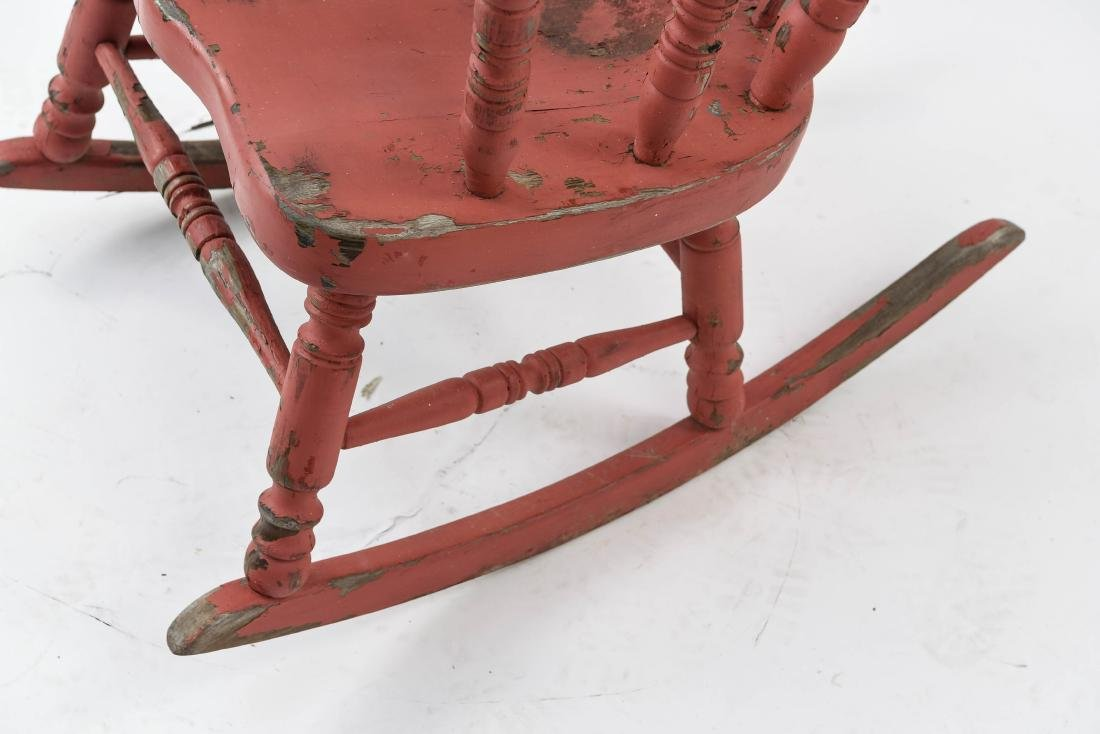 ROCKER WITH DISTRESSED PAINT FINISH - 8