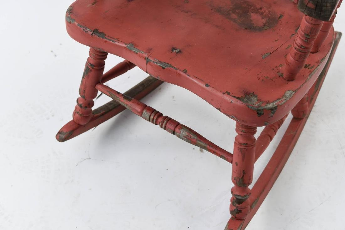 ROCKER WITH DISTRESSED PAINT FINISH - 9