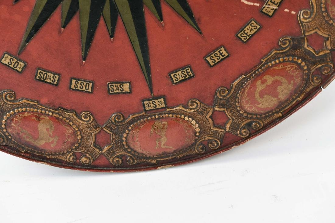 VINTAGE EMBOSSED LEATHER ZODIAC CHART TABLETOP - 5