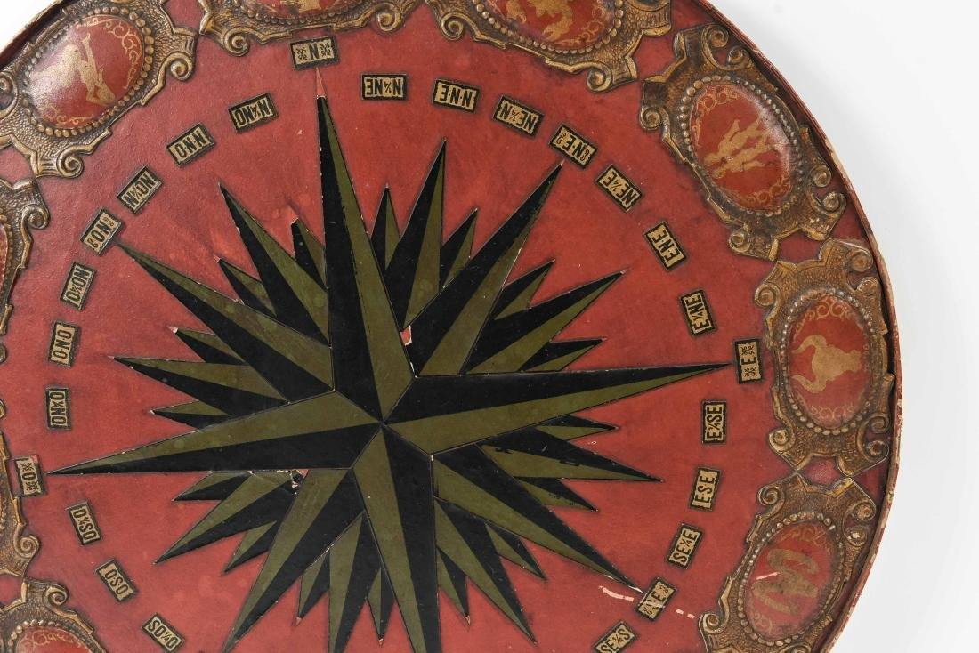 VINTAGE EMBOSSED LEATHER ZODIAC CHART TABLETOP - 7