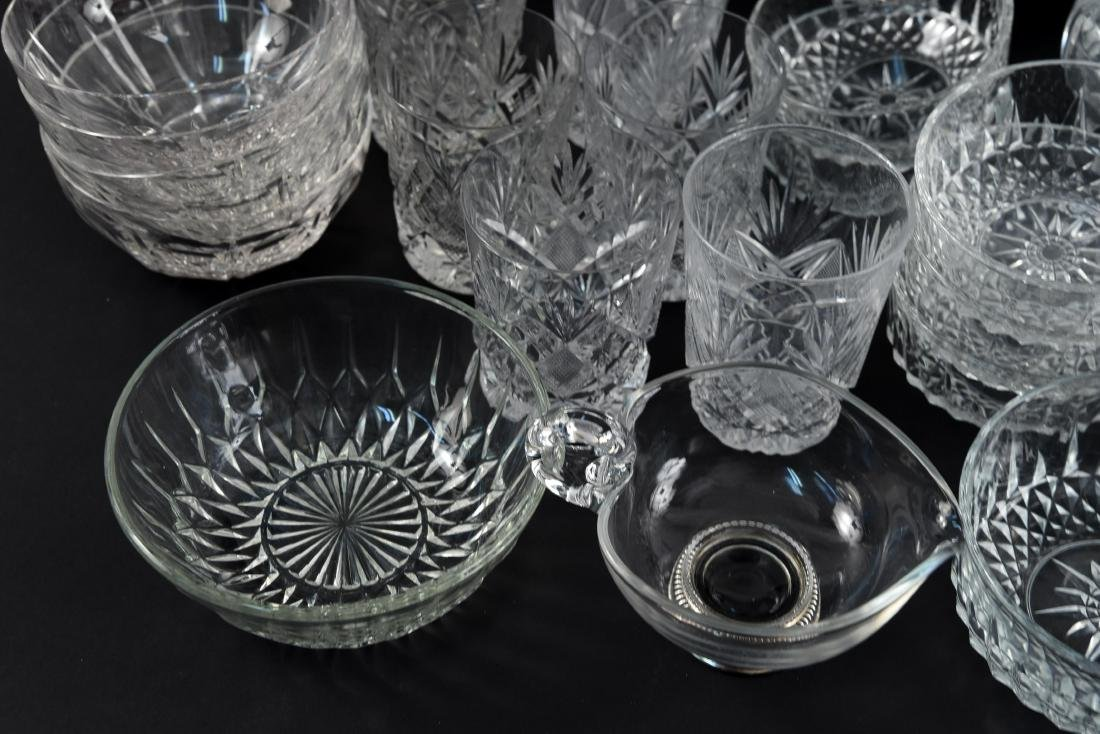 GROUPING OF CRYSTAL, PRESSED & CUT GLASS - 3