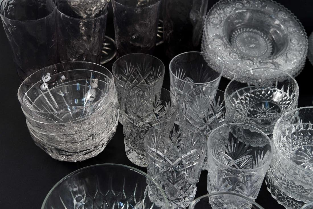 GROUPING OF CRYSTAL, PRESSED & CUT GLASS - 4