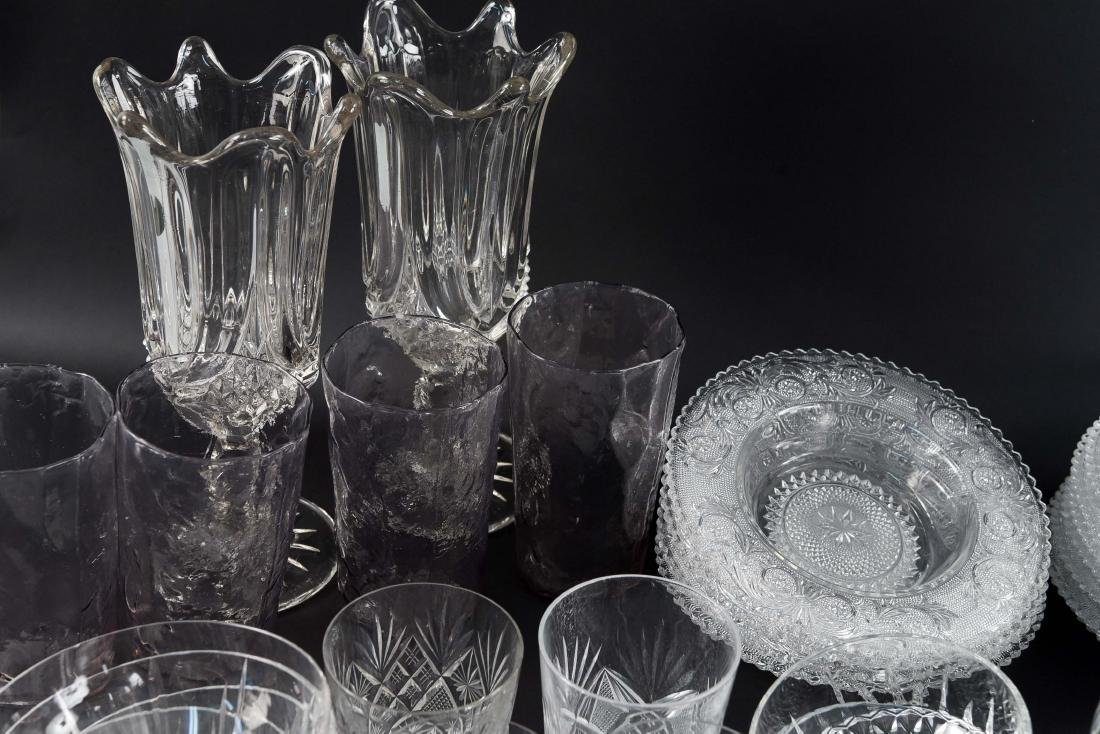 GROUPING OF CRYSTAL, PRESSED & CUT GLASS - 5