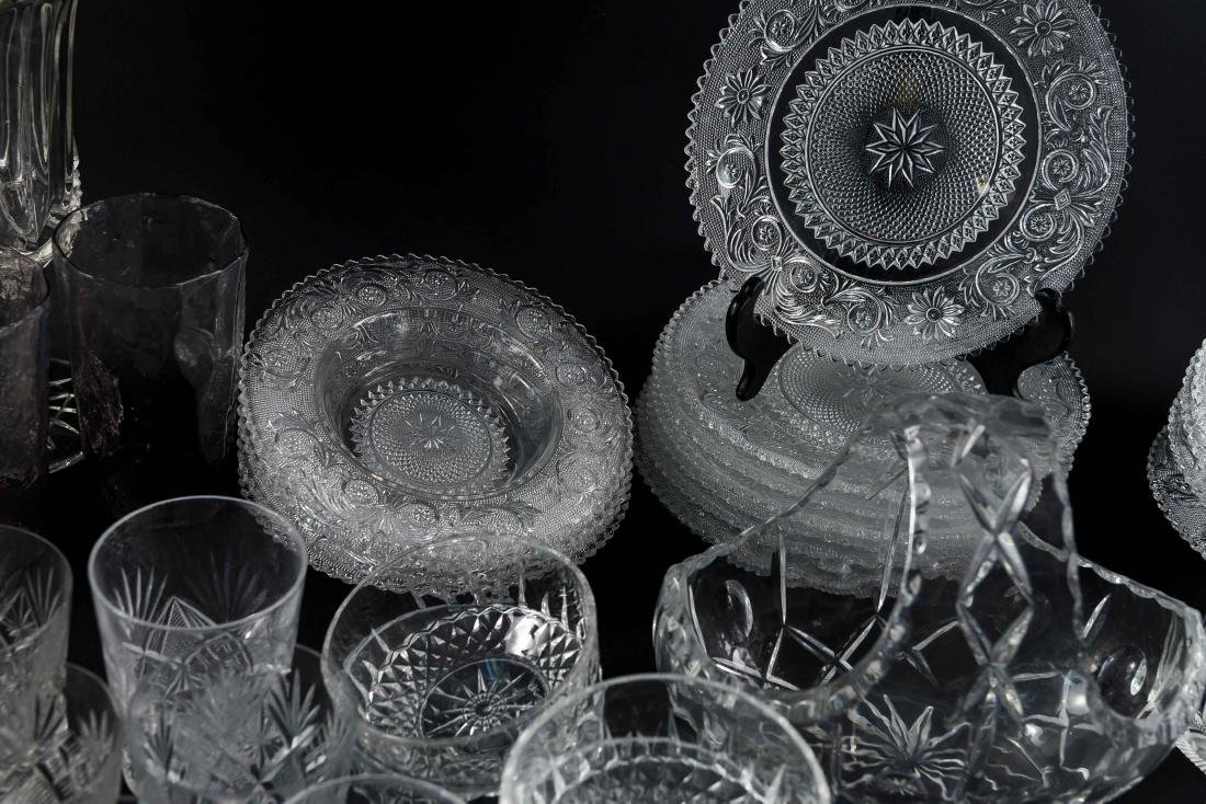 GROUPING OF CRYSTAL, PRESSED & CUT GLASS - 6