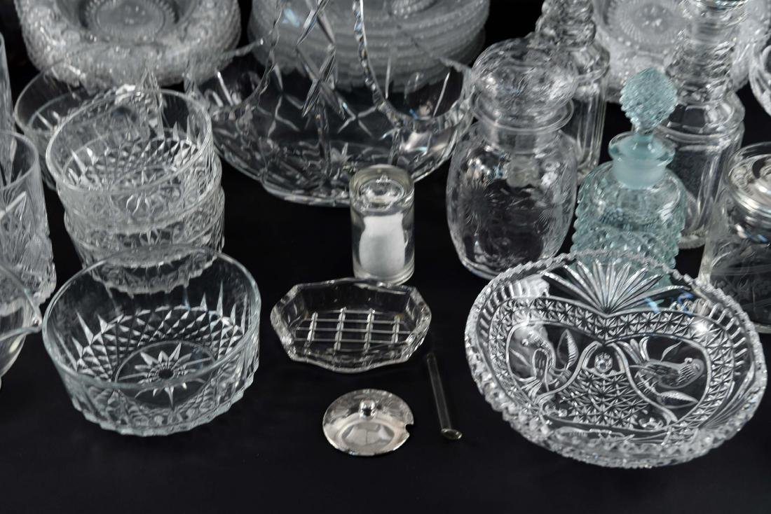 GROUPING OF CRYSTAL, PRESSED & CUT GLASS - 9